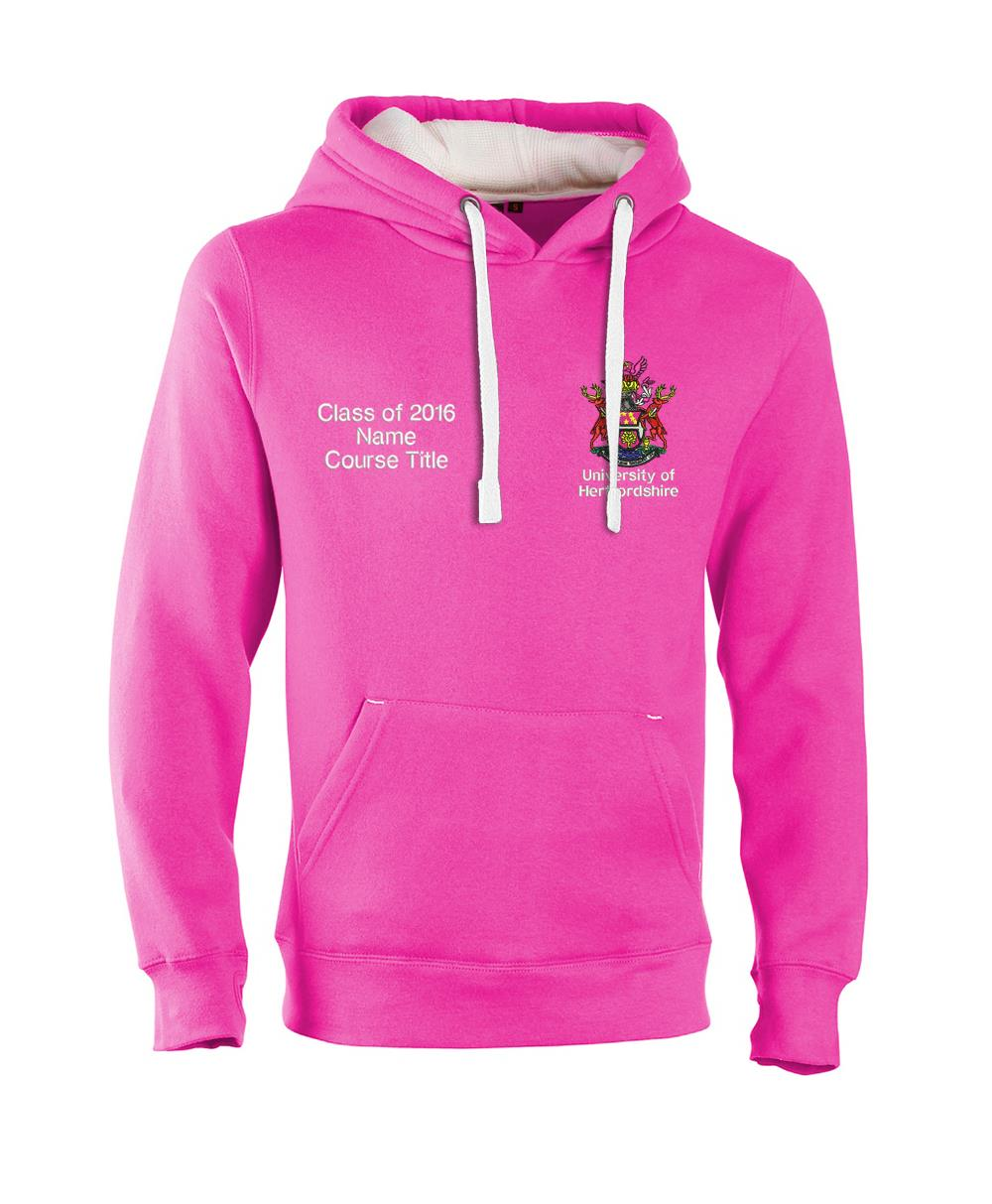 W89PF-Embroidered Ultra-Premium Graduation Hoodie-Hertfordshire Ultra Soft Feel Hooded Top